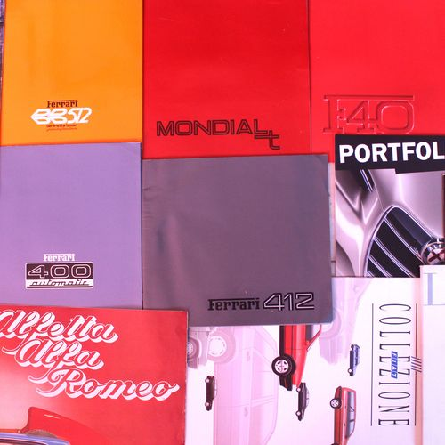 Italian brand catalogues  Batch of catalogues of Italian brands or for the Itali…