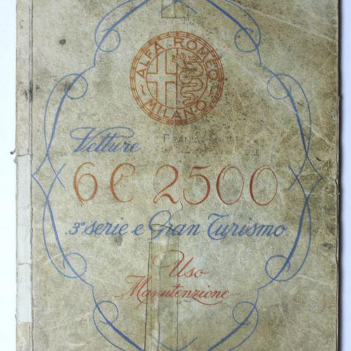 Documentation Alfa Romeo 6C  Service Manual 6C 2500, 3rd edition of 1952, in Ita…