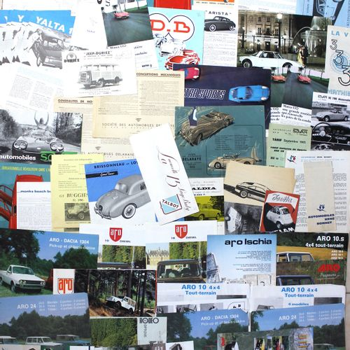Documentation various FRENCH and BELGIAN Brands  ARO: Two sided leaflet 2000 Two…