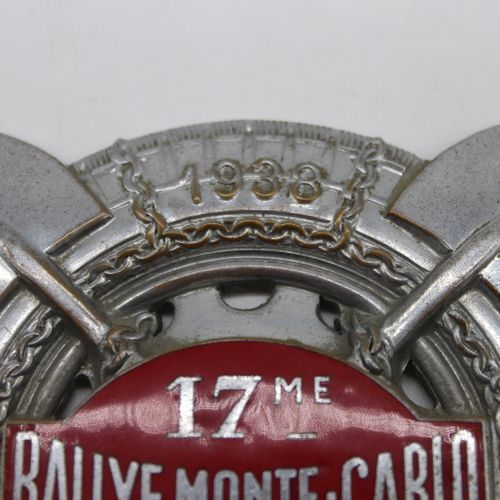 Badge of the 17th Monte Carlo Rally 1938  Badge of the 17th Monte Carlo Rally 19…