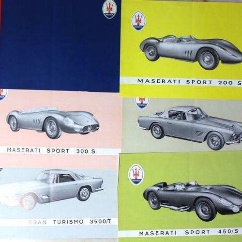 MASERATI Documentation  5 leaflet folder, 1957 for Sports and Gran Turismo model…