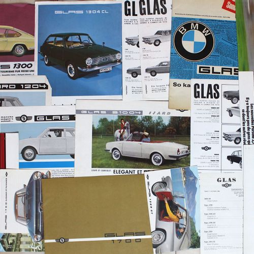 Documentation GLAS and PORSCHE  Lot of documentation on the German brands GLAS a…
