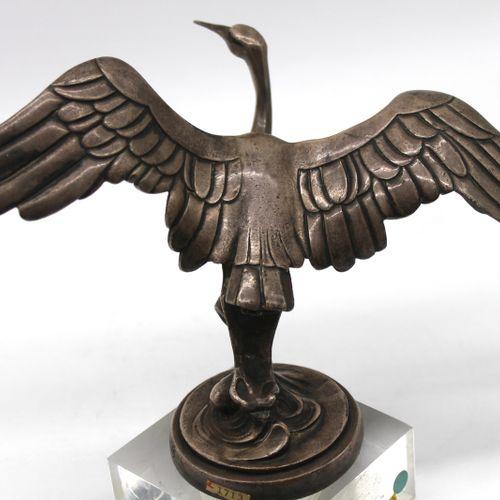 SASPORTAS   Stork   Mascot marked ED.T Sasportas. Silver bronze. H: 12 cm, wings…