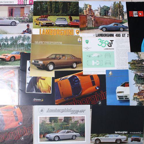 LAMBORGHINI Documentation  350 GT, 2 panel leaflet 1964 Lamborghini 400 GT 2+2, …