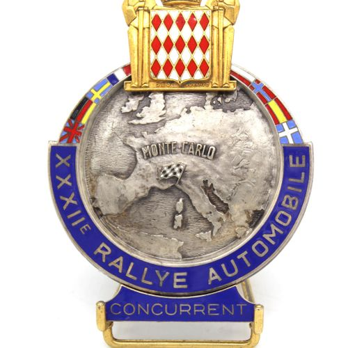 "Badge ""Competitor"" of the XXXII° Rallye Monte Carlo 1963  Badge ""Competitor"" of …"