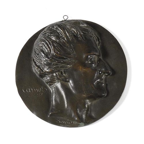 DAVID D'ANGERS The General Lazare Carnot (1753 1823) in profile. Round medallion…