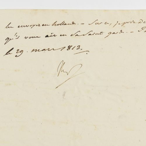 "NAPOLEON I. Letter signed ""Nap"" to General Géraud Christophe Michel Duroc, with …"