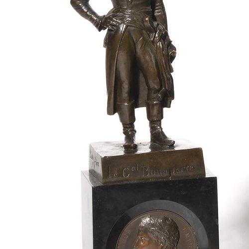 ANTONIN MOINE, AFTER. General Bonaparte in uniform, standing, on a terrace marke…