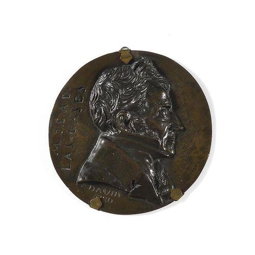 DAVID D'ANGERS The Count Emmanuel de Las Cases (1763 1842) in profile. Round bro…