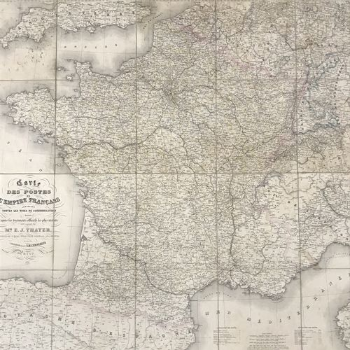MAP of the POSTS of the French Empire indicating all the communication routes dr…