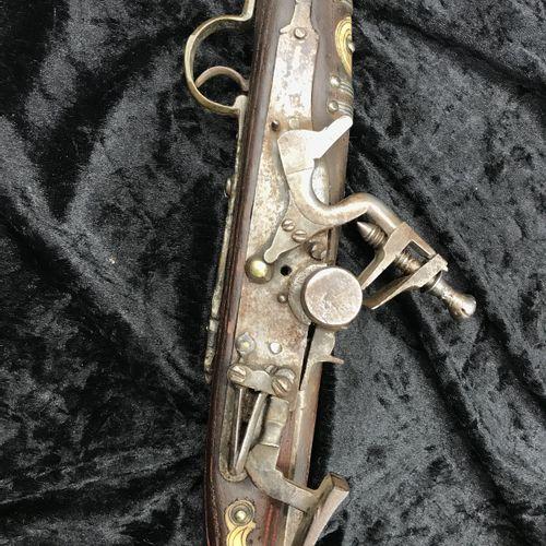 MOUKALA, North Africa  Fantasia rifle  Inlaid bone decoration, engraved brass tr…