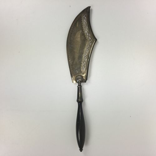 SILVER FISH PEEL with ebony handle. Cock punch 1st title Long: 37 cm gross weigh…