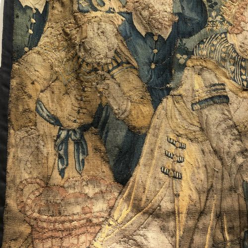 FLANDRES Panel of fine tapestry of Oudenaarde diverted. The meeting between The …