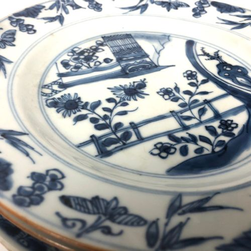 CHINA Set of fifteen dinner plates and a porcelain soup bowl with floral decorat…