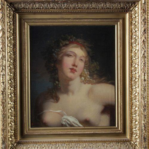 Jacques Antoine VALLIN ( Paris 1760 after 1831) Bacchante Canvas Height : 45 cm …