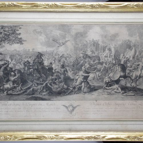 After Charles LE BRUN (1619 1690) Engraved by AUDRAN. From the Battles of Alexan…