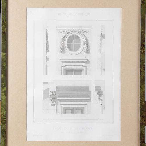 After Rudolf PFNOR 1824 1909. Suite of fourteen architectural engravings, engrav…