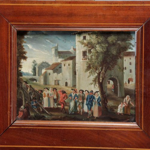 """FRENCH SCHOOL, 17th century. """"Oil on copper, dated on the back June 19, 1778. 17…"""