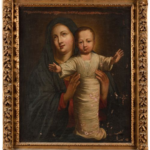 18th century FRENCH SCHOOL, follower of Philippe de Champaigne Virgin and Child …