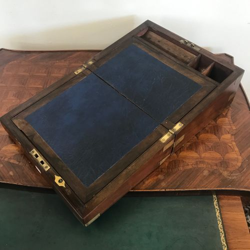 STUDYBOOK  in mahogany and mahogany veneer, gilt brass inlays.  Circa 1900  Miss…