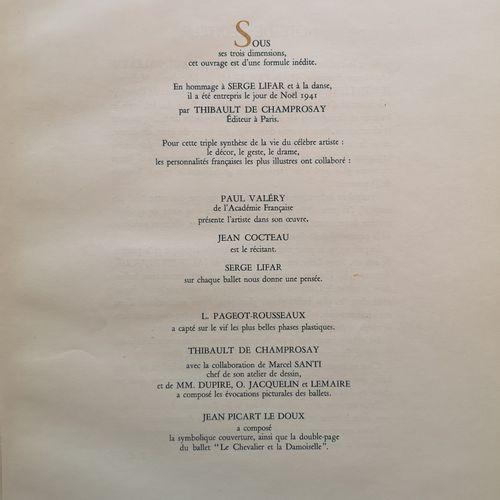 [LIFAR SERGE]  PIGEOT ROUSSEAU Lucienne (1899 1955)  Serge Lifar à l'Opéra. Avec…