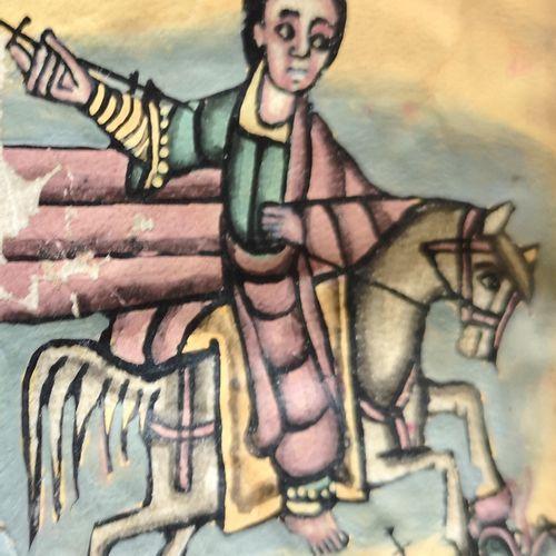 LIVRE DE PRIERE.  Probablement en géorgien. XVIIIe siècle. 3 illustrations en co…