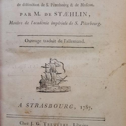 [DE LA BIBLIOTHEQUE DE NICOLAS TOUROVEROFF]  LOT de trois livres : 1) STAEHLIN M…