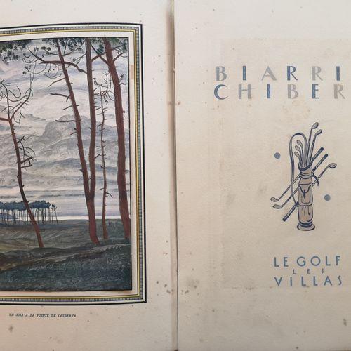 DOBOUZHINSKI MSTISLAV (1875 1957)  Biarritz Chiberta. Ed. Le golf les villas, Pa…