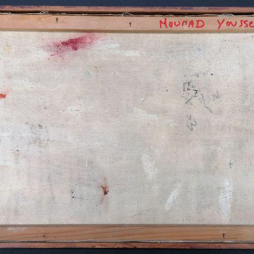 Mourad YOUSSEF (1934 2018)  Huile sur toile  Attelage  Cadre baguette  Signé au …