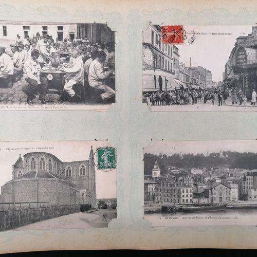 ALBUM de cartes postales anciennes  Thèmes divers ( Paris, voeux, régions, Fonta…