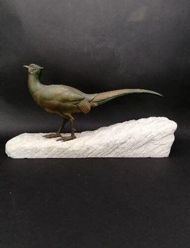 Henri PAYEN (1894 1933) Henri PAYEN (1894 1933)  Faisan  Bronze à patine verte s…