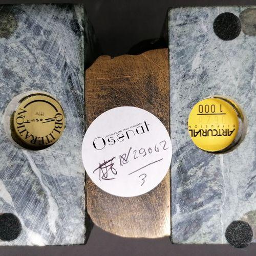 SOSNO  Oblitération  1990  Sujet en bronze et marbre  Titré, signé et daté d'une…