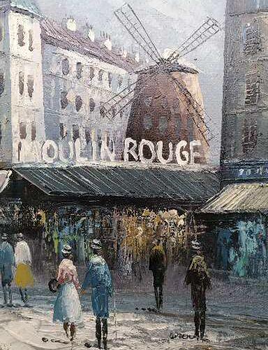 Caroline C. BURNETT (XIX XX) Caroline C. BURNETT (XIX XX)  Vue du Moulin Rouge d…