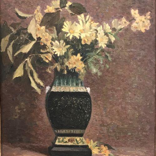 Max TOURET (1872 1963) Max TOURET (1872 1963)  Bouquet de fleur dans un vase  Hu…