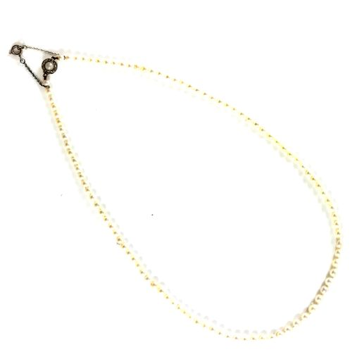 NECKLACE of sea water cultured pearls. Clasp in 18K yellow gold, adorned with ro…