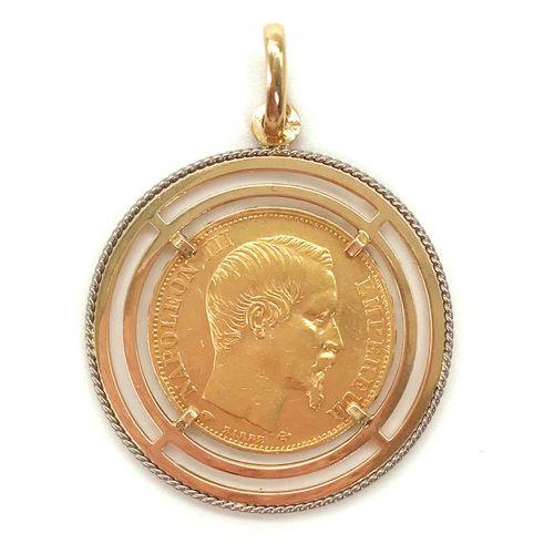 """PENDENTIF en or, de 20 francs, également appelée """"20 francs or Napoléon III non …"""