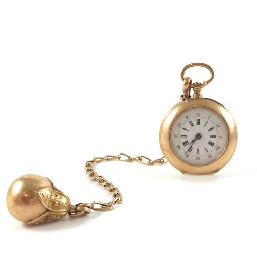 "POCKET WATCH white dial, roman numerals. Obverse engraved with the initials ""C"" …"