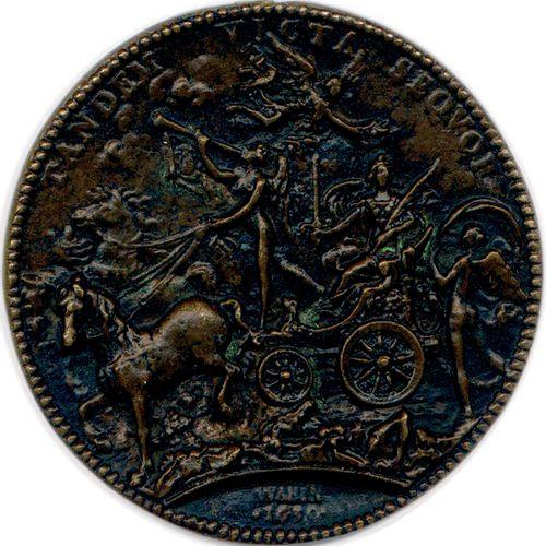 MEDAILLE EN BRONZE DE LOUIS XIII DU GRAVEUR JEAN VARIN 1630. LVDOVICVS*XIII*D*G*…