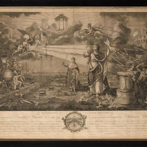 ECOLE FRANÇAISE DU XVIIIE SIECLE La régénération de la Nation Française, en 1789…