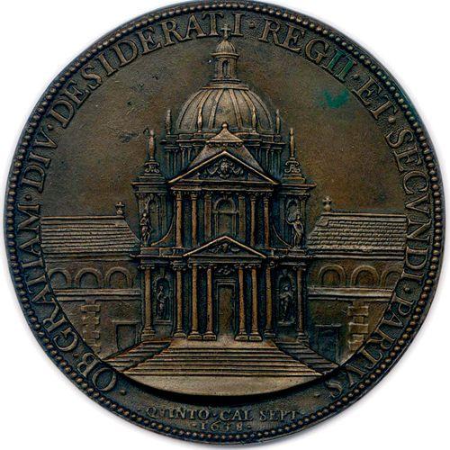 MEDAILLE EN BRONZE D'ANNE D'AUTRICHE ET LOUIS XIV NON SIGNEE VARIN 1638. ANNA D•…