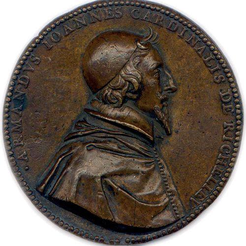 MEDAILLE DE CARDINAL DE RICHELIEU (1629 1642) DU GRAVEUR JEAN VARIN 1630. •ARMAN…