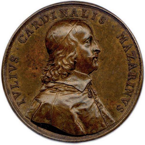 MEDAILLE EN BRONZE DU CARDINAL DE MAZARIN DU GRAVEUR JEAN VARIN (NON DATE 1630).…