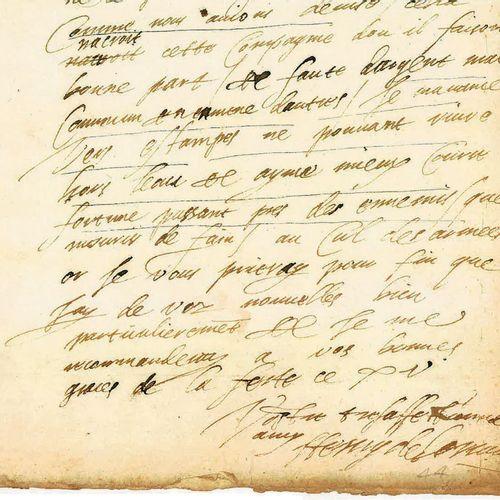 GUISE (HENRI DE LORRAINE, DUC DE). Lettre autographe signée « Henry de Lorraine …