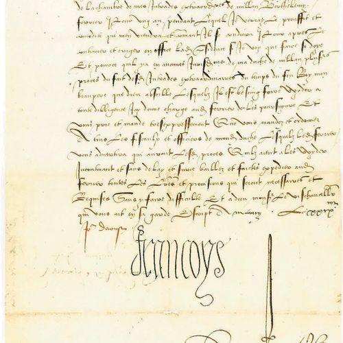 FRANÇOIS IER. 3 lettres signées « François » au vice chancelier de Milan, Jean d…