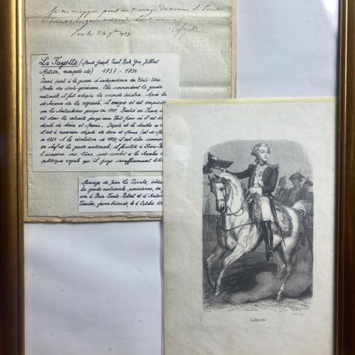 LA FAYETTE Certificat de non opposition au mariage du Soldat « Jean La Pointe »,…