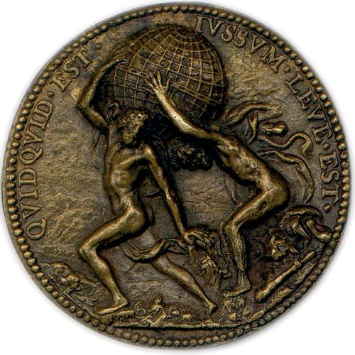 MEDAILLE EN BRONZE D'ANTOINE RUZÉ* DU GRAVEUR JEAN VARIN 1629 (NON SIGNEE) A•RVZ…