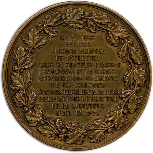 ENSEMBLE DE TROIS REFRAPPES DE MEDAILLES EN BRONZE : Richelieu de Varin Ø 54 mm …