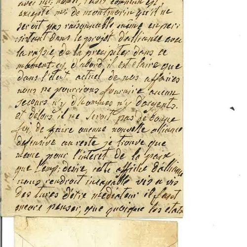MARIE ANTOINETTE. Copie manuscrite en imitation de son écriture, du XIXe siècle,…