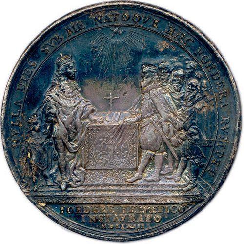 Cette médaille porte la date du 31 mai 1654 avant le changement de date de la cé…