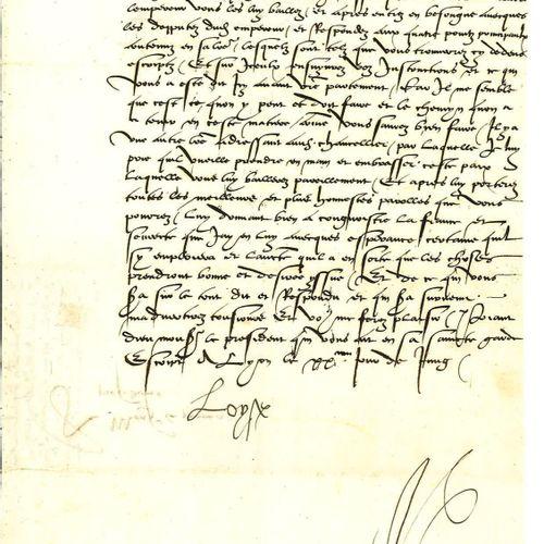 LOUISE DE SAVOIE. Lettre signée « Loyse » en qualité de régente du royaume de Fr…